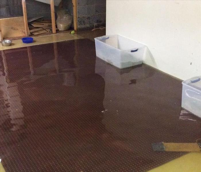 Flooded Basement in North Wilkesboro Before