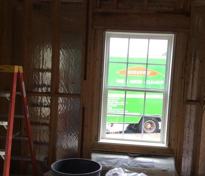 Damaged drywall and insulation removed in Clemmons